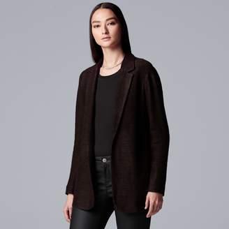 Vera Wang Women's Simply Vera Marled Blazer