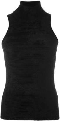Antonio Marras striped sleeveless turtleneck knitted top