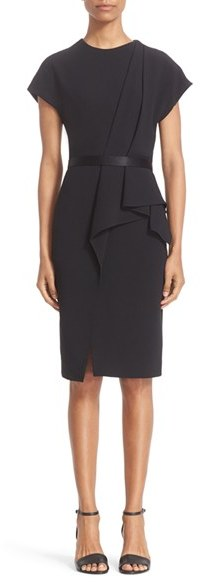 Alexander Wang Women's Alexander Wang Belted Drape Detail Pencil Dress