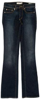 Tory Burch Mid-Rise Straight Leg Jeans