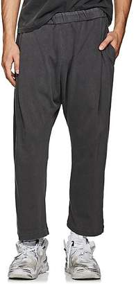 WILLY CHAVARRIA Men's Cotton Jersey Drop-Rise Pants - Dark Gray