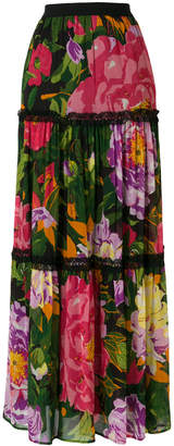 Twin-Set floral flared skirt