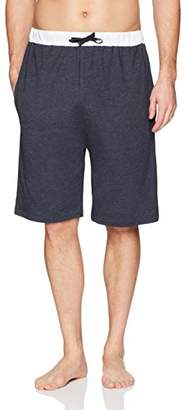 The Slumber Project Men's Cotton Knit Sleep Shorts w/Contrast Waistband