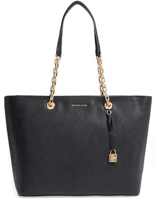 Michael Michael Kors Mercer Leather Tote - Black $298 thestylecure.com