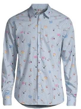 Paul Smith Slim-Fit Graphic Button-Down Shirt