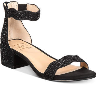 INC International Concepts I.n.c. Little & Big Girls Hadwin Scallop Two-Piece Sandals, Women Shoes