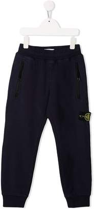 Stone Island Junior front zipped pocket trousers