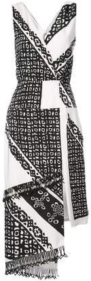 Altuzarra printed asymmetric dress