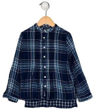 Polo Ralph Lauren Girls' Plaid Print Top