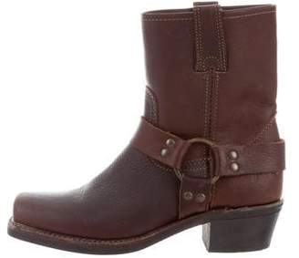 Frye Leather Square-Toed Boots