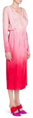 ATTICO Silk Ombre Wrap Dress