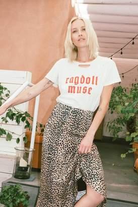 Ragdoll LA DISTRESSED VINTAGE TEE ''RAGDOLL MUSE'' Red
