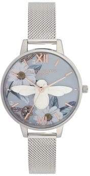 Olivia Burton Bejeweled Floral Stainless Steel Analog Watch