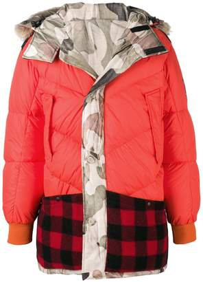 Woolrich X GRIFFIN reversible contrast panel down jacket