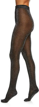 Marc Jacobs Shimmer Ribbed Tights