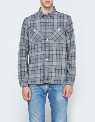 Beams Work Flannel Check Long Sleeve Shirt