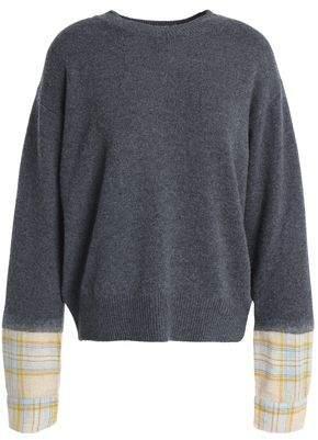 Vanessa Bruno Athe' Paneled Merino Wool-Blend Sweater