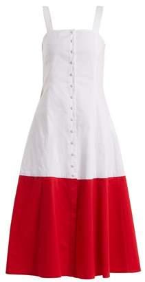 Staud - Dusk Cotton Blend Dress - Womens - White