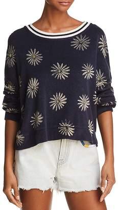 Splendid x Margherita Daisy Print Terry Sweatshirt
