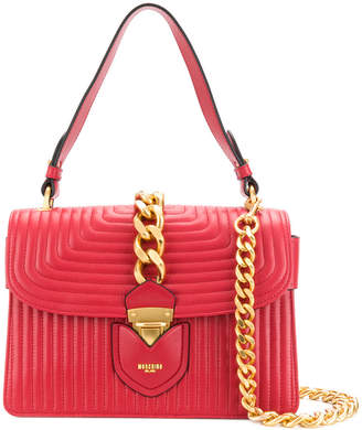 Moschino quilted chain trim tote