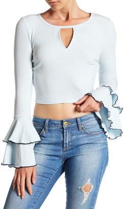 En Creme Long Sleeve Rib Knit Shirt $38 thestylecure.com