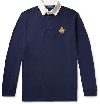 cf8ecd52898 Polo Ralph Lauren Logo-Embroidered Twill-Trimmed Cotton-Jersey Rugby Shirt