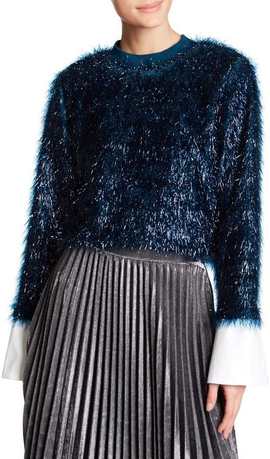 TOV Lustrous Faux Fur Sweatshirt 6