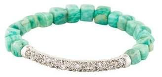 Tai Amazonite Bead Crystal Bar Bracelet