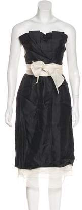 3.1 Phillip Lim Strapless Silk Dress