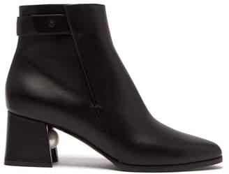 Nicholas Kirkwood Miri Faux Pearl Embellished Leather Ankle Boots - Womens - Black