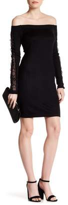 Cynthia Steffe Annie Off-the-Shoulder Lace Detail Dress