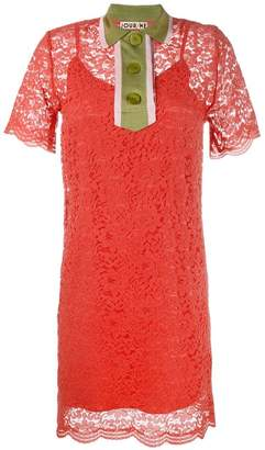 DAY Birger et Mikkelsen Jour/Né collared lace mini dress