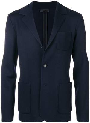 Prada two-button fleece blazer