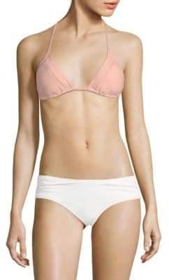 Pilyq Mesh-Trimmed Bikini Top