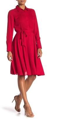 Nanette Lepore NANETTE Pintuck Pleated Shirt Dress