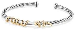David Yurman Davidyurman Dy Whispers Te Amo Bracelet With 14K Gold