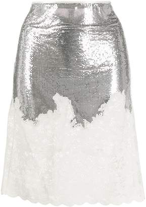 Paco Rabanne sequin fitted skirt