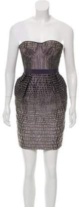 Matthew Williamson Strapless Mini Dress Purple Strapless Mini Dress