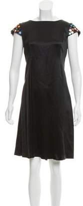 Saint Laurent Embellished Satin Dress