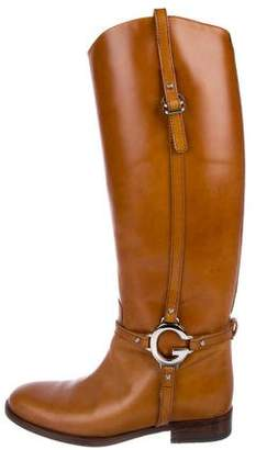 Gucci Leather Equestrian Boots