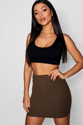 boohoo Crepe Micro Mini Skirt