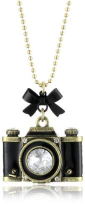 "Betsey Johnson Royal Engagement"" Large Camera Long Pendant Necklace"