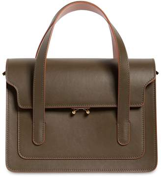 Marni Trunk Leather Top Handle Bag