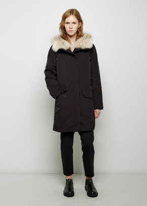 Army By Yves Salomon Coyote Fur-Lined Weatherproof Parka $2,025 thestylecure.com