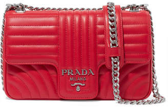 Prada Quilted Leather Shoulder Bag - Red