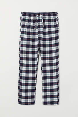 H&M Flannel Pajama Pants - Blue