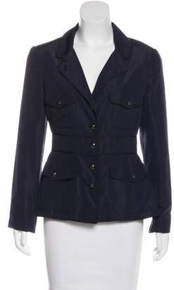 Chanel Silk Notch-Lapel Blazer