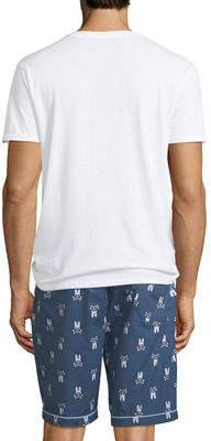 Psycho Bunny Men's V-Neck & Shorts Lounge Set