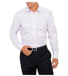 Canali Cotton Plain Single Cuff Shirt