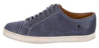 John Lobb Suede Cap-Toe Sneakers